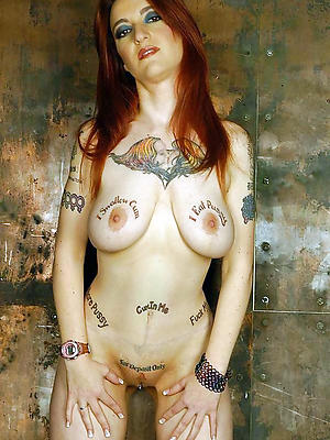 gorgeous tattooed of age women nude pics
