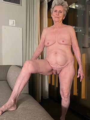 sexy grey grandmas displaying her pussy
