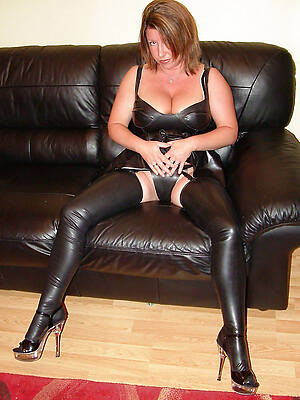 hot of age ladies just about latex posing
