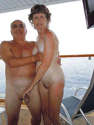 older full-grown couples stripped