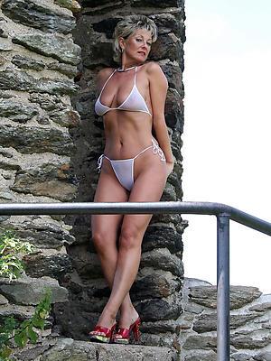 grown-up mom bikini stripped