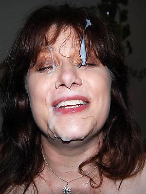 amateurish mature facial stripped