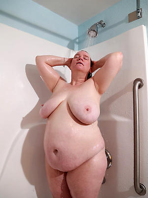 mature shower stripped