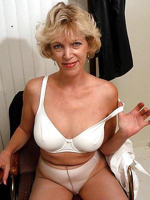 grown-up woman more pantyhose posing nude