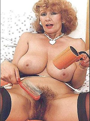 downcast vintage of age women stripped