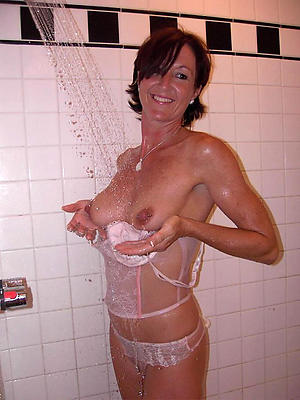 homemade bosomy adult shower stripped