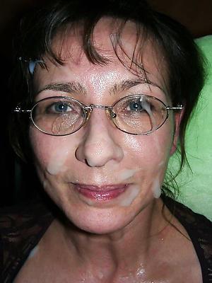 mature wife facial posing nude