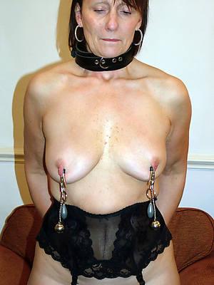 sexy puffy mature nipples posing nude