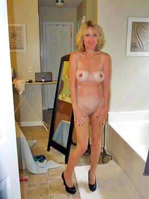 defoliated petite blonde mature stripped