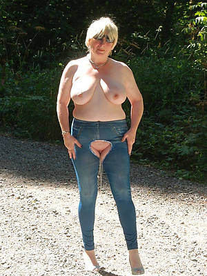 mature women in jeans