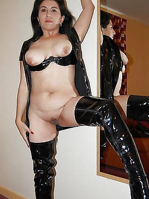 beautiful mature women in latex