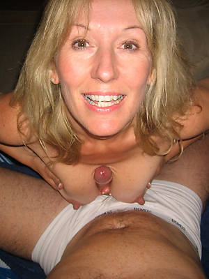 horny chunky tit mature blow job photos