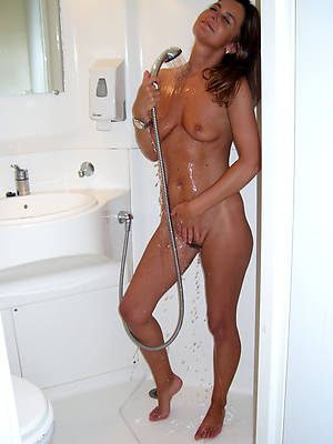 beautiful wet mature in the shower pics