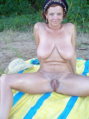 elegant down in the mouth busty natural mature