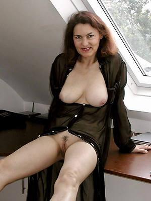 naughty mature brunette woman