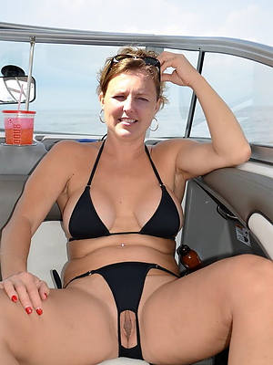 elegant despondent hot grown-up bikini