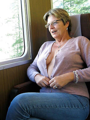 real X-rated mature nudes displaying her pussy