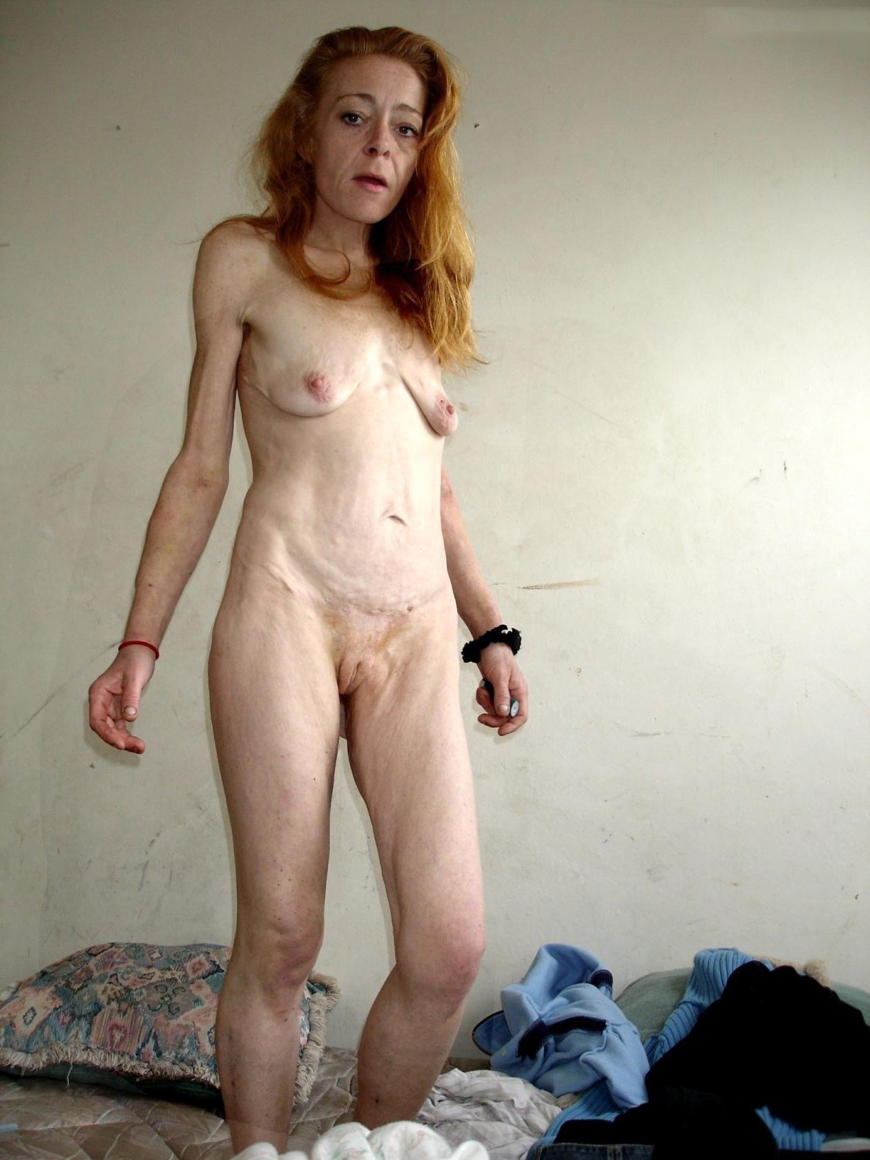 Skinny Mature Brunette Handjob